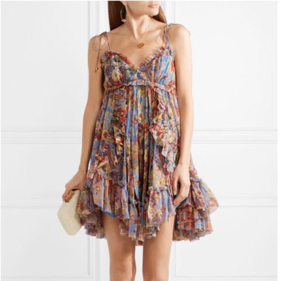 237238f19c86 Zimmermann Dresses | Blue Lovelorn Floral Frill Mini Dress | Poshmark